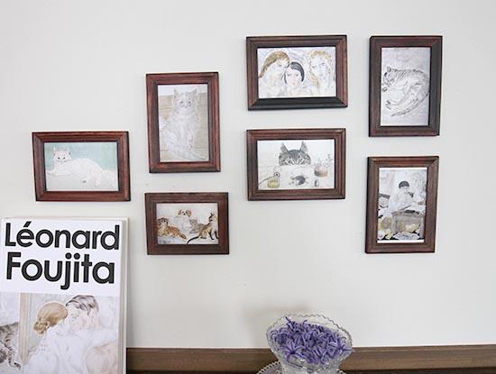 ポストカード 壁に飾り方 オシャレ デザイン ステキ