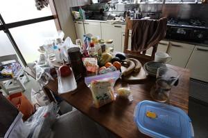 片付けられない生活  キッチン