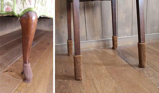 イス 家具 床を傷つけない方法 ニット靴下 口コミ