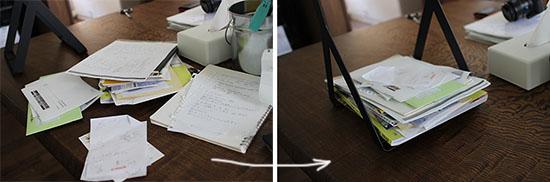 机の書類を片付ける方法 ブログ 1