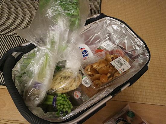 買い物かご袋 折りたたみ式バッグ・保冷素材 口コミ