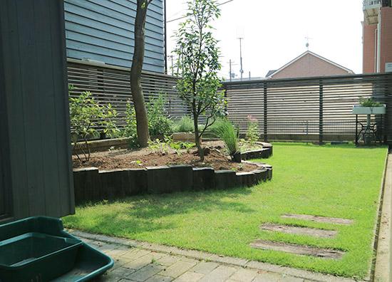 庭のリフォーム あと 施工事例