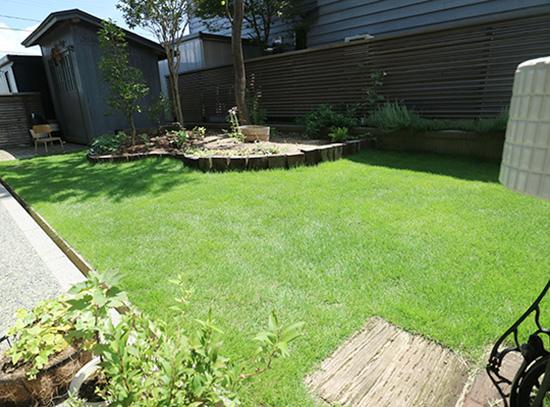 ガーデンリフォーム 高麗芝生 3ヶ月後の様子 8月 1