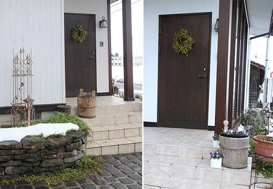 玄関ドア 外 ナチュラル リース 1