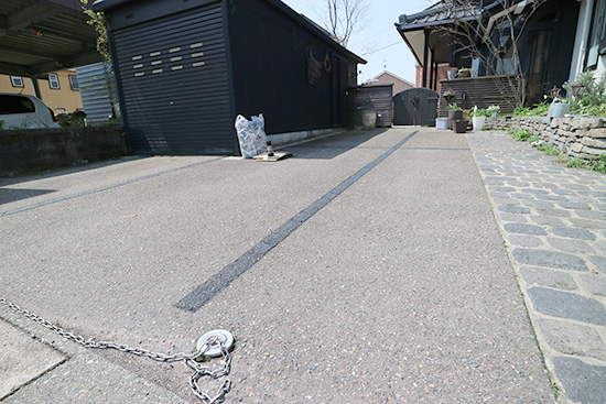 駐車場 白線消し方 体験談画像 ブログ