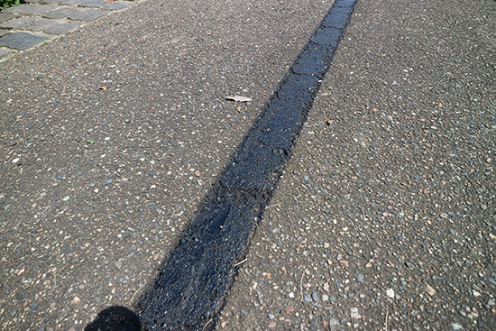 駐車場 白線消し方 スプレー 体験談画像 ブログ 画像