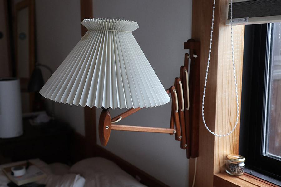 シザーランプ 木製 北欧 チーク